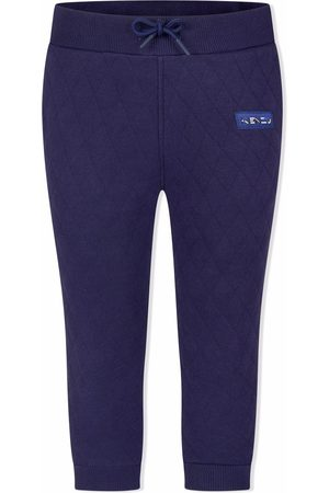 Kenzo Boys Pants - Quilted-stitch logo trackpants