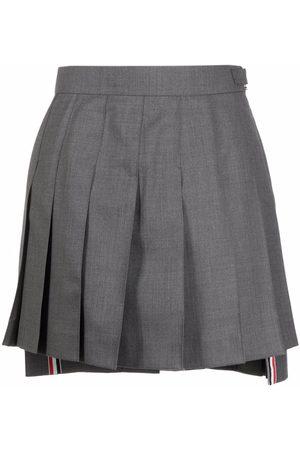 Thom Browne Women Pleated Skirts - Step-hem pleated skirt