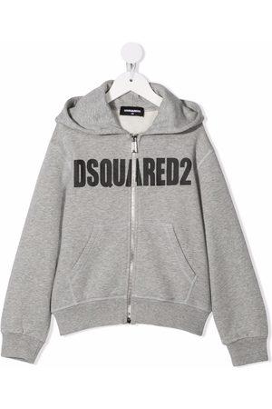 Dsquared2 Logo-print zip-up hoodie