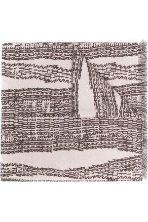 Acne Studios Scarves - Graphic-print wool-blend scarf