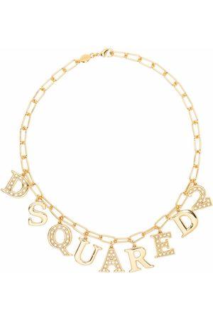 Dsquared2 Letter charm chain-link bracelet