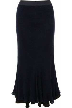 J.W.Anderson FLUTED HEM DOUBLE LAYER SKIRT