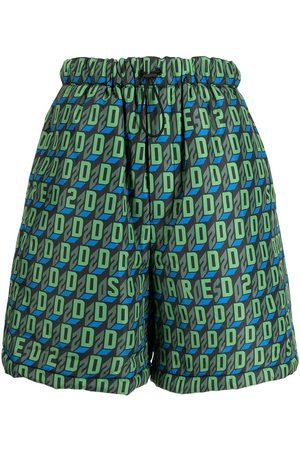 Dsquared2 D2-pattern deck shorts