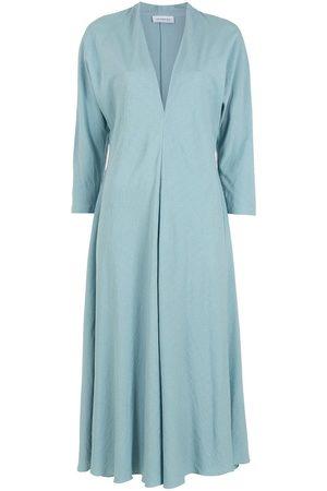 Olympiah V-neck midi dress
