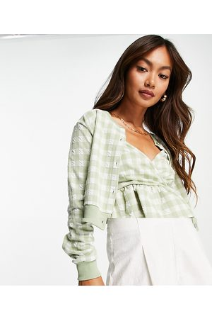 River Island Women Camisoles - Gingham check cami and cardigan set in