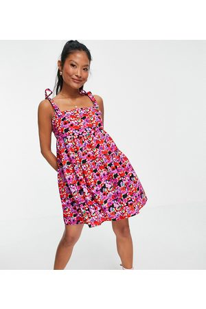 Miss Selfridge Women Casual Dresses - Floral poplin smock dress
