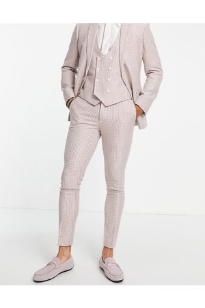 ASOS Super skinny suit trousers in dogstooth
