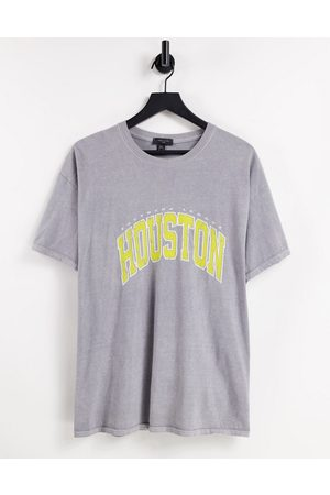 New Look Men Short Sleeve - Oversized t-shirt with Houston print in