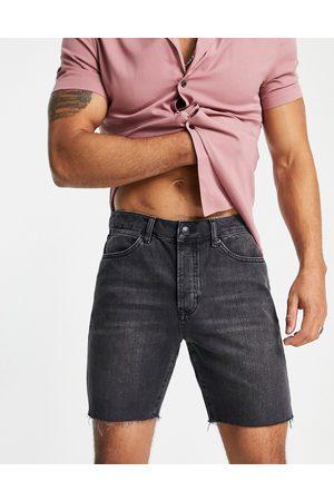 Topman Men Shorts - Slim denim shorts in washed
