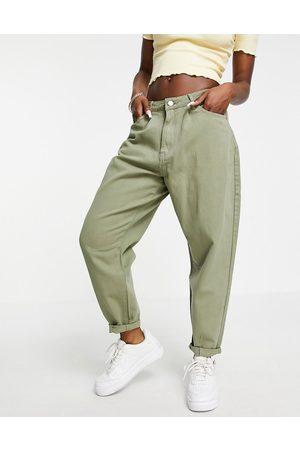 Missguided Women Jeans - High rise carrot jean in khaki