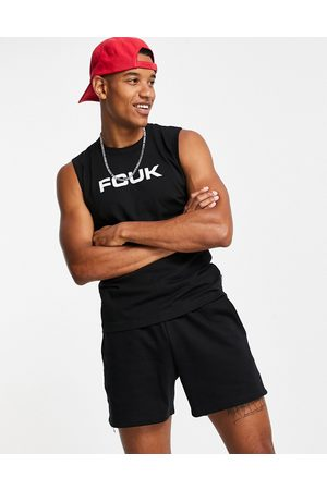 French Connection Men Camisoles - FCUK sleeveless t-shirt vest in