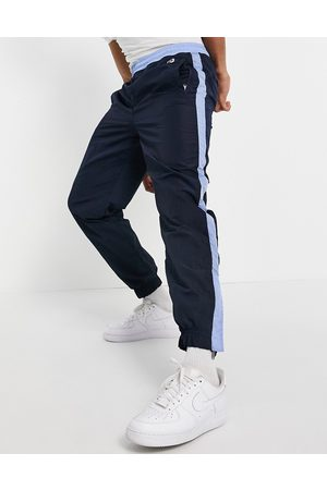 HUGO BOSS Men Joggers - X Russell Athletic Janyl joggers with side stripe in navy