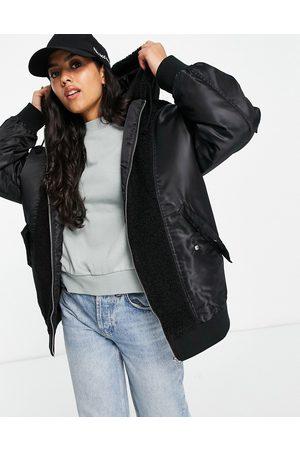 ASOS Women Fleece Jackets - Fleece patched bomber in