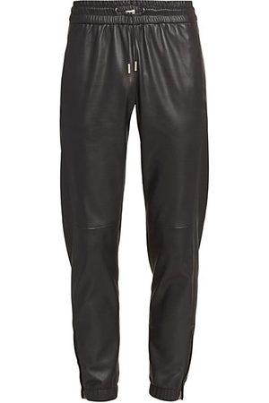 Saint Laurent Men Joggers - Leather Joggers
