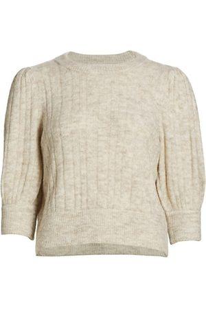 Gestuz Ribbed Puff-Sleeve Sweater