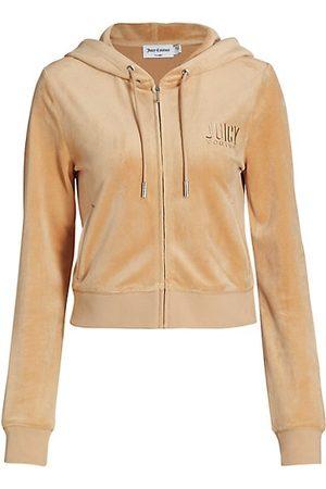 Juicy Couture Women Hoodies - Classic Velour Zip-Up Hoodie
