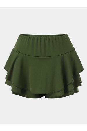 YOINS Women Skorts - Tiered Design Ruffle Hem High Waist Shorts Skorts