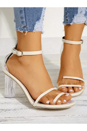 YOINS Straps Clear Chunky Heeled Sandals
