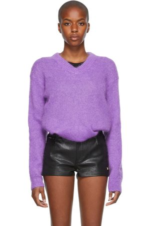 Women Jumpers - TOM FORD Brushed Mohair V-Neck Sweater