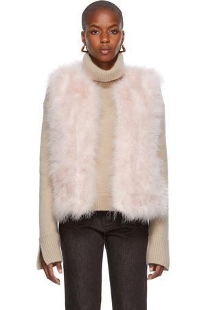 Women Camisoles - Yves Salomon Pink Feathers & Silk Vest