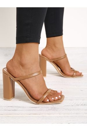 YOINS Thin Straps Chunky Heeled Sandals