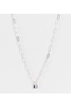 ASOS Women Necklaces - Plate necklace with mini padlock