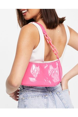 Ego Women Handbags - Mini bag with chunky chain strap in patent