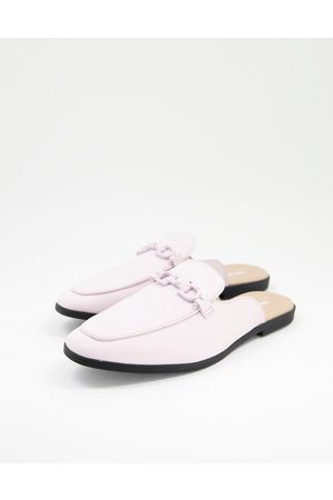 ASOS Backless mule loafer in lilac faux leather with snaffle