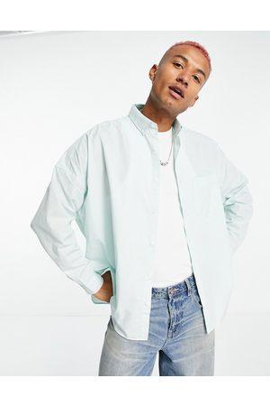ASOS Volume oversized dad shirt in pastel