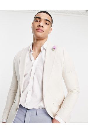 Gianni Feraud Men Blazers - Wedding linen slim fit suit jacket