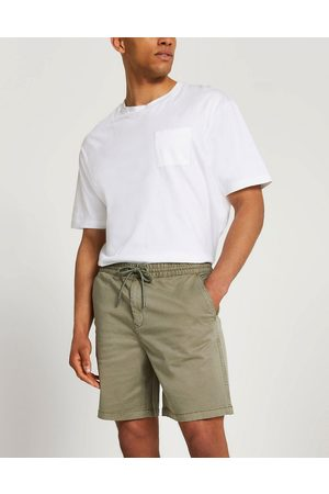 River Island Men Shorts - Pull on chino shorts in washed