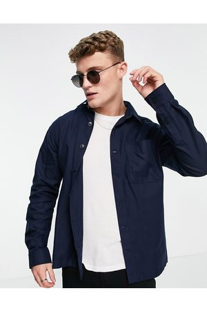 SELECTED Men Casual - Double pocket overshirt in navy