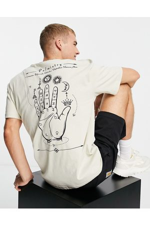 Only & Sons Men Short Sleeve - Oversized t-shirt with hand of destiny back print in -Neutral