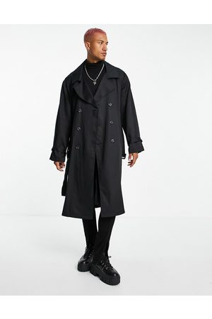 ASOS Men Trench Coats - Lightweight longline double breasted trench coat in