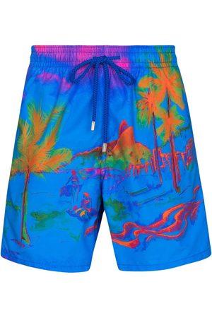 Vilebrequin Moorea palm print swim shorts