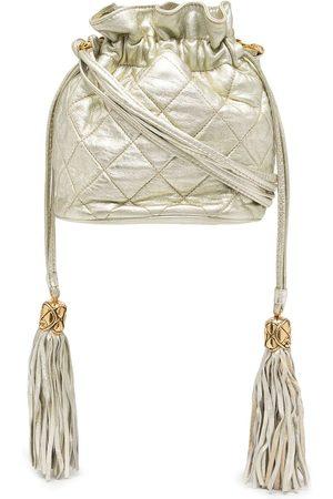 CHANEL 2002 diamond-quilted tassel crossbody bag