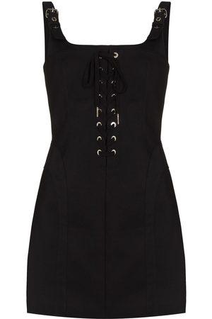DION LEE Women Party Dresses - DION DRS MINI SQR NCK STRP SLVSS FTTD CN