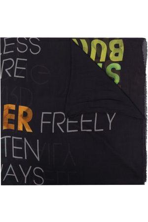 Faliero Sarti Graphic-print frayed-edge scarf