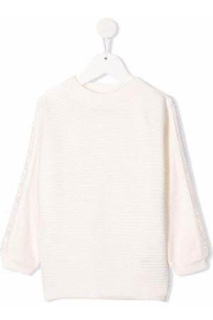 Chloé Open-knit trim jumper