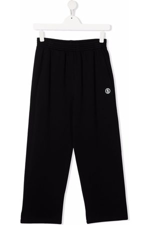 MM6 KIDS TEEN embroidered logo trousers