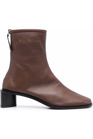 Acne Studios Logo-print square-toe boots
