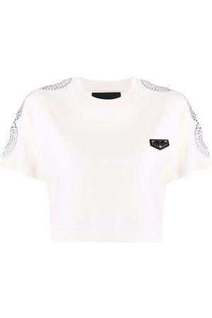 Philipp Plein Logo cropped T-shirt