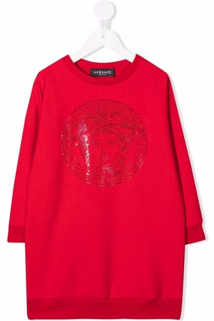 VERSACE Girls Casual Dresses - Medusa logo sweatshirt dress