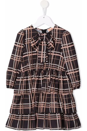 Elisabetta Franchi La Mia Bambina Check-patterned tiered dress