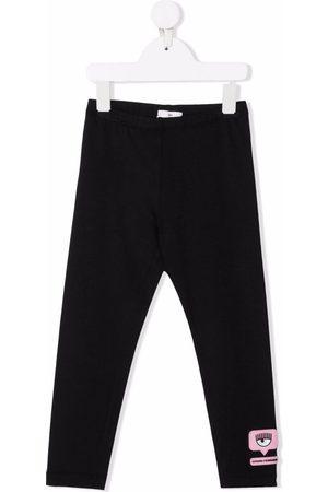 Chiara Ferragni Girls Leggings - Eyelike-patch leggings
