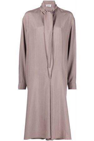 LEMAIRE Tie-neck long-sleeve shirt dress