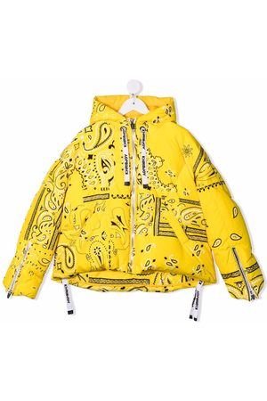 Khrisjoy Girls Jackets - Paisley-print down jacket