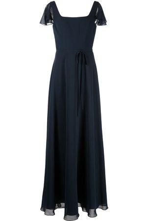 Marchesa Notte Flutter-sleeve bridesmaid gown