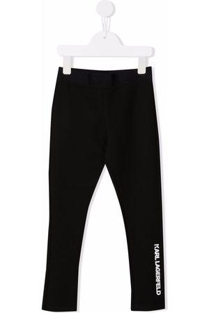 Karl Lagerfeld Logo-print elasticated leggings