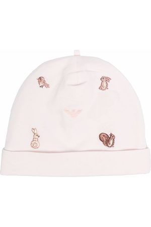 Emporio Armani Baby Beanies - Embroidered cotton beanie
